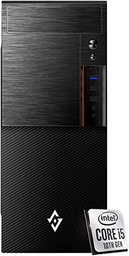 INVENTIVE M500 - Pc fisso intel i5 10400 6 Core fino a 4.30 Ghz,Ram 8 Gb Ddr4,Ssd 256Gb + Hdd 1 TB,Pc desktop intel,Grafica Uhd 630,Lettore masterizzatore,Windows 10 Pro, Computer fisso