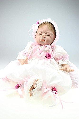 QXMEI 55cm 22 Inch Reborn Baby Puppe Lebensechte Schlafende mädchen Magnetische Schnuller Puppe Spielzeug Real Life Kind Geschenk
