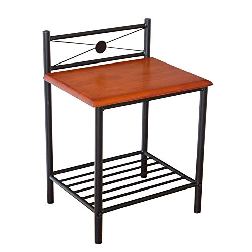 Homestyle4u 1068, Nachttisch Nachtkonsole Nachtschrank Metall Beistelltisch Schrank Tisch