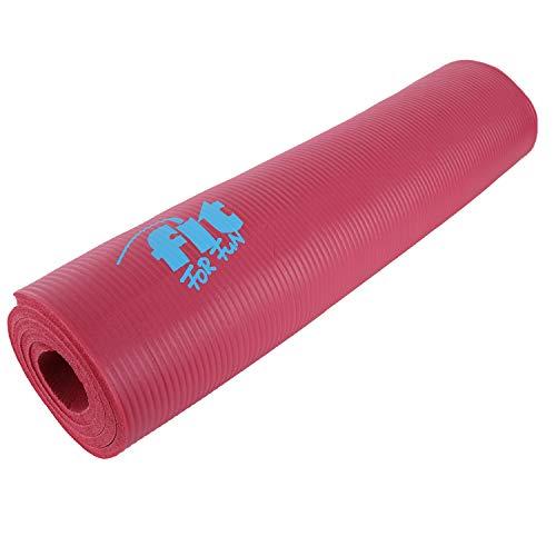 H4L Yogamatte Flexibility Gymnastikmatte Fitnessmatte Pilates Sportmatte Matte Yoga Training Pink