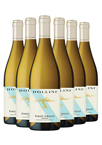 Bollini Pinot Grigio 2020 - Vino Trentino Bianco - DOC - 0.75L - 6 Bottiglie