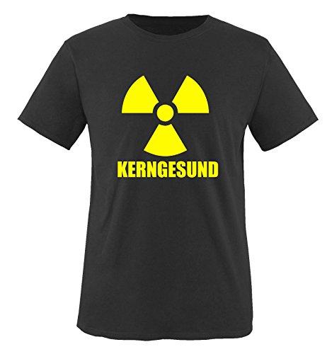 Comedy Shirts kerngesund/Radio Active. T-Shirt Taille S à XXL XXL Noir