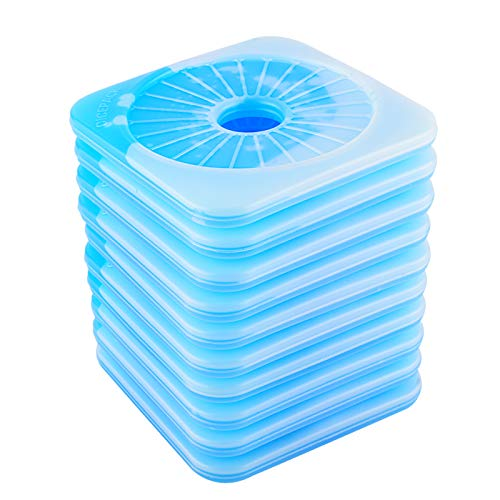 OICEPACK Cool Coolers Ice Packs for Lunch Box 10 set - Reusable Freezer Ice Cooler - Slim Long Lasting Cool Packs for Lunch Bags Injuries Cooler Kids School Boxes Picnics