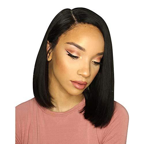 Perruques Afro Femme Naturelle BréSilien Cheveux Courte Bobo SynthéTique Mode Postiches (Noir)