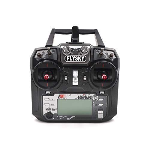 Yiwa Transmisor Flysky FS-i6X i6X 10CH 2.4GHz AFHDS 2A RC con Receptor FS-iA10B para FPV RC Drone
