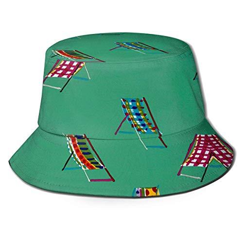 Silla de Playa Sombrero de Cubo de Lona Gorra de Pescador Unisex...