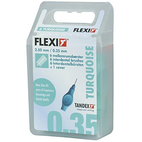 Tandex Flexi Interdentalbürsten türkis x-micro, 6 Stück