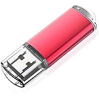Kootion Memoria USB Stick 32GB 2.0 Memoria Flash Drive Llave USB Pendrive con Indicador LED para Ordenador, Rojo