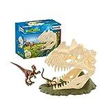 Schleich- Colección Dinosaurios Figuras de Calaveras Grandes con Velociraptor, Multicolor...