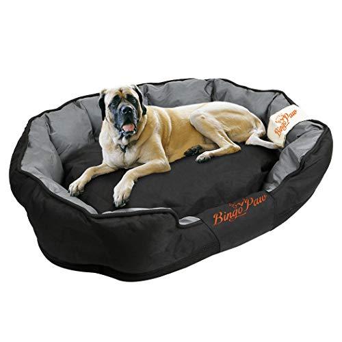 WISFORBEST Cama Cómoda para Perros Colchoneta Grande para Mascotas Cama Impermeable con Cojín Desmontable Suave Sofá para Perros Gatos (XXL 130 x 90 x 26cm)