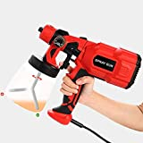 Vogvigo Electric Paint Sprayer HVLP Spray Gun, 550W Electric Paint Gun with 3 Spray Patterns, Flow Control and 800ml Detachable Container for Various Painting Projects