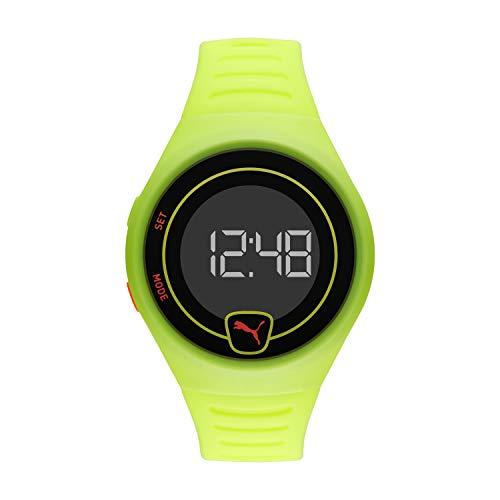 PUMA P5030 Uhr Herrenuhr Plastik Kunststoff 5 bar Digital Datum gelb