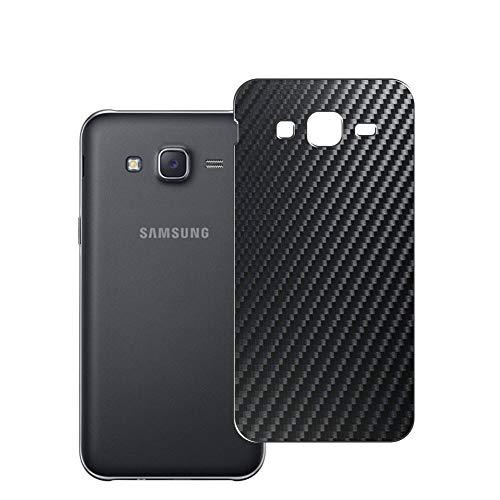 Vaxson 2 Unidades Protector de pantalla Posterior, compatible con Samsung Galaxy J5 2016 J510x J510, Película Protectora Espalda Skin Cover - Fibra de Carbono Negro