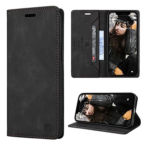 GANKER Cover per iPhone 12  iPhone 12 Pro Libro [RFID Blocking] Custodia iPhone 12 Pro  iPhone 12 Portafoglio Pelle Premium Magnetica Flip Cover iPhone 12 12 Pro (6.1  ) - Nero
