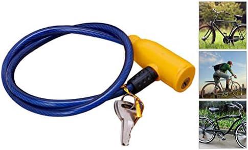 Portable Kabelslot Hoge Kwaliteit Fietsslotkabel Anti Roest PVCCoating Beveiliging Tegen Diefstal Fietskabelsloten Voor Fietsen Scooter Kinderwagens Motor Geschikt 2 Sleutels 62cm