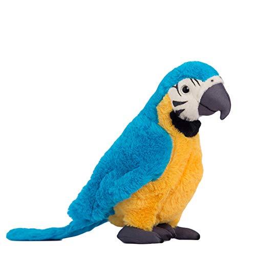 Kuizhiren1 Plüsch-Plüschtier für Papageien, Vogel, Plüschpuppe für Kinder, 25 cm blau