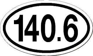 I Make Decals® - 140.6, Ironman, Triathlon, Run car bumper window sticker 3