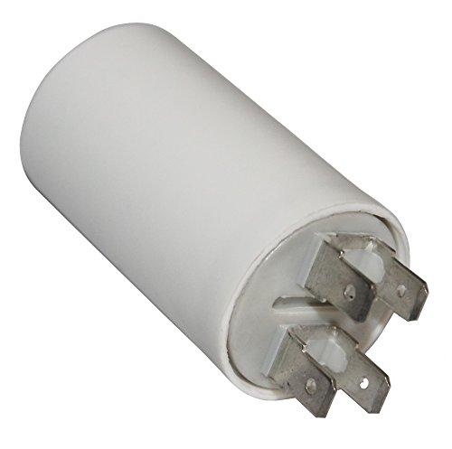Aerzetix - Kondensator ständigen Arbeitsprogramm für Motor 8µF 425V mit 6,3 mm Anschlüssen