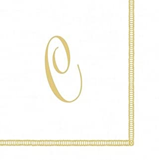 Entertaining with Caspari Monogram Initial C Paper Cocktail Napkins, Pack of 20