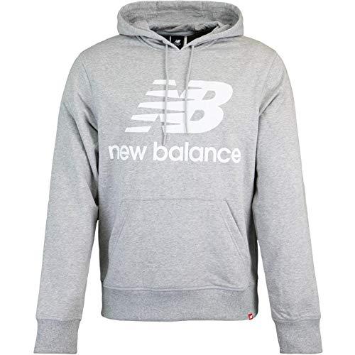 New Balance Essentials Stacked Logo Hoody (Grey, s)