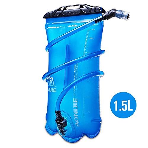 1,5 l/2 l/3 l Faltbare TPU-Wassersack-Trinkblase für Outdoor-Sport Laufen Camping Camping Wanderrad, 1,5 l