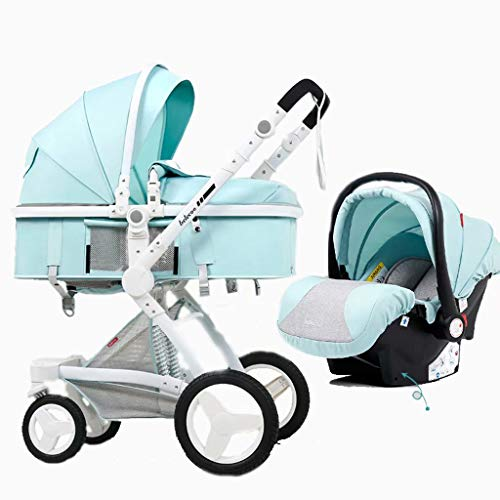 Why Should You Buy Pushchair, High Landscape Stroller Basket Can Sit Reclining Folding Two-Way Shock...