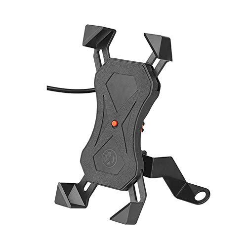 WYW Soporte Movil Bicicleta, 3.5-6.8' Smartphones, Se Puede Cargar,Soporte Motocicleta Soporte Manillar para iPhone 12 Mini, 12 Pro MAX, 11 Pro, XS MAX, XR, X, 8, 7, 6S, Samsung S10 S9 S8,2