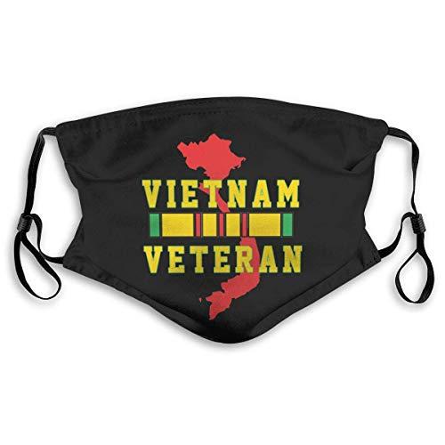 Fun-World Gesichtsschutz Mundschutz Vietnam Veteran Mundschutz mit Filter Waschbar Atmungsaktive Staubdicht Schutz Bandana