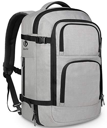 Dinictis 40L Flight Approved Carry on Travel Backpack, Weekender Bag - Grey