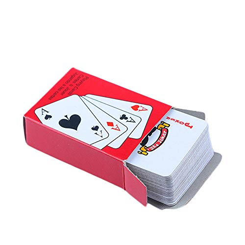 HYDKU Kartenspiele 1Set Tragbare Spielkarten-Set for Reise Glücksspiel Werkzeug Folie überzogener Mini Poker Traditional Set Casino-Tool Brettspieles