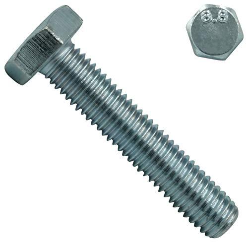 Sechskantschrauben mit Vollgewinde 8.8 - M14x50 mm - 5 Stück - DIN 933 / ISO 4017 - Stahl galv. verzinkt - SC933