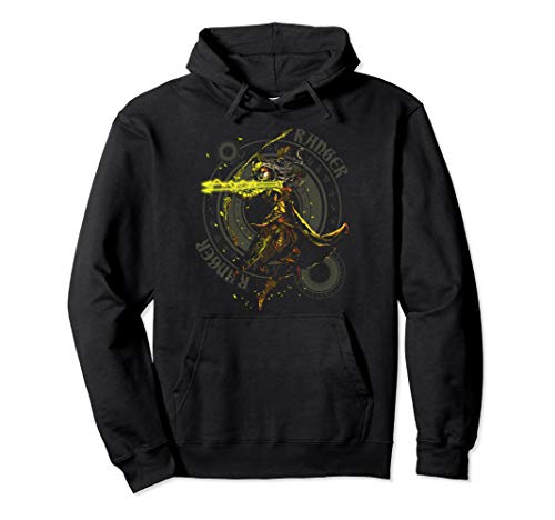 Elven Ranger Archer Fantasy Roleplaying Dungeons RPG Gamers Pullover Hoodie