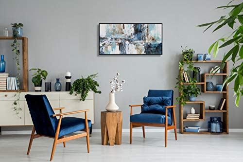 Angie Decoration Atlas Turquesa Marino Cuadro, Acrílico, Azul, 40 x 80 cm