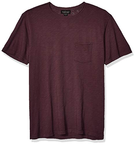 Velvet by Graham & Spencer Men's Chad SS Cotton Pocket Tee, Chicory, Large