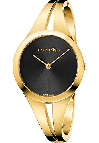 Calvin Klein Damen Analog Quarz Uhr mit Edelstahl Armband K7W2S511