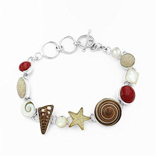 "DUR Damen Armband ""Strandstücke"" aus 925er Silber A1420"