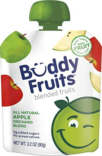 Buddy Fruits Pure Blended Fruit To Go Apple Orchard Blend Applesauce 100 Real Fruit No Sugar product image