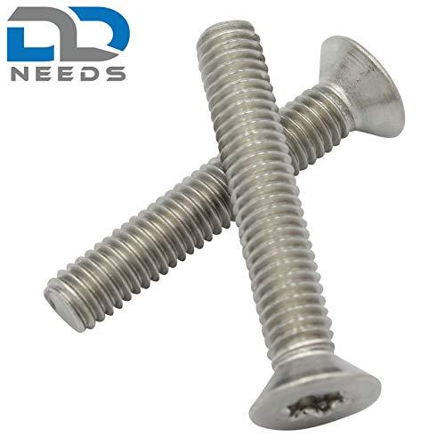 VPE: 20 pezzi Viti a testa svasata. ISO 14581 // DIN 965 in acciaio inox A2 V2A Viti a testa svasata dimensioni M4 x 30 mm con filettatura completa e TX D2D