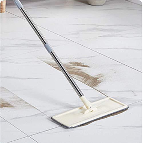 YIJIAHUI Fregona de piso de mano libre de fregona plana con cubo almohadillas de microfibra 360 rotación plana mopa de piso todo tipo de piso
