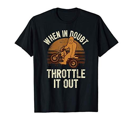 Piloto De Motocross Bicicleta De Motocross I Bigfoot Yeti Camiseta