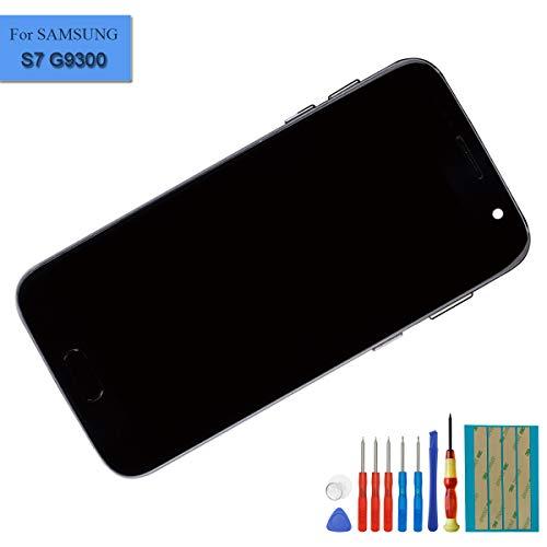 E-yiiviil nieuwe Super Amoled display compatibel met Samsung Galaxy S7 SM G930F scherm touchscreen beeldscherm digitizer Assembly zwart glas met frame + tools