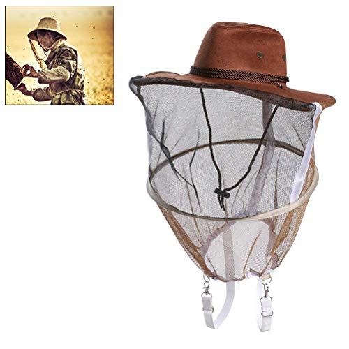 Rapoyo Imkerhut mit Schleier Poly Cotton Imkerei Schleier Imker Hut Moskito Fly Mask Cap Outdoor Angeln Kopf Netz Gesichtsschutz
