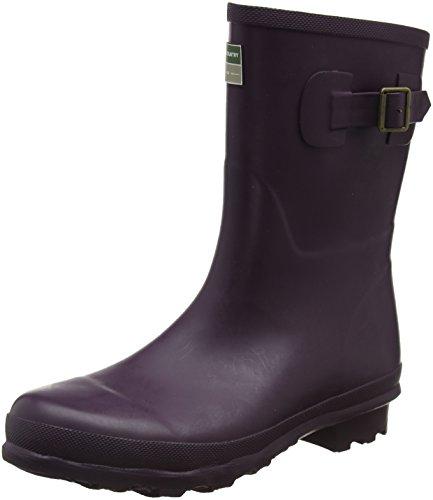Town & Country de Bradgate laarzen kort, rubberen broek UK Size 8 aubergine