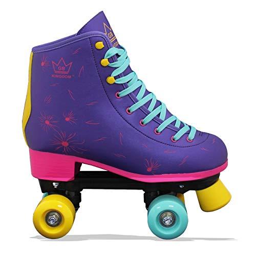 Kingdom GB Venus v2 Quad Rollschuhe 4 Rollen Skates (Violett v2, 33 EU)