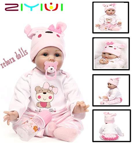 Yesteria Mu/ñeca Renacida Reborn Baby Doll Ni/ño Real Lifelike Ni/ñito Beb/é Siliconas Blanco 55 cm