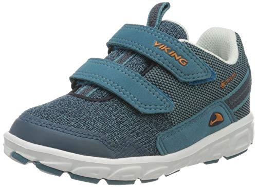 viking Rindal GTX, Unisex-Kinder Sneaker, Blau (Denim/Navy 7405), 32 EU (13 UK)