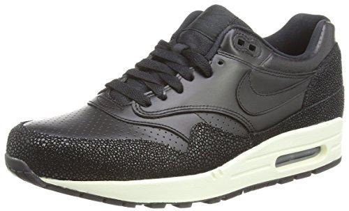 Nike Herren Air Max 1 Leather Pa Sneaker, Black (Black/Black/Black/Sea Glass 001), 43 EU