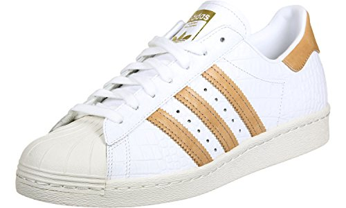 Adidas Mens Superstar 80s Footwear White Leather Trainers 5.5 UK