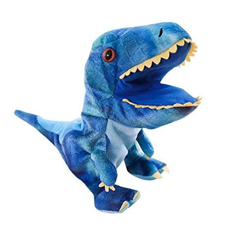 Odoukey con la Boca Abierta móvil Dinosaurio de Dibujos Animados de Animales marioneta de Mano marioneta de Peluche, Utilizado para la narración y Juego de Roles