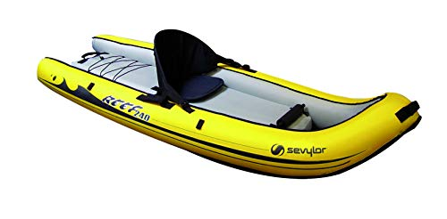 Sevylor Reef 240 Kayak Mare Gonfiabile, Sit on Top, 1 Posto, 236 x 86 cm